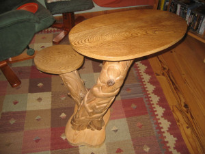 Table basse sculpté